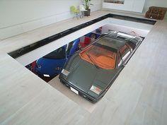 KRE House by Takuya Tsuchida -- Autoblog #garage #classic #architecture #car