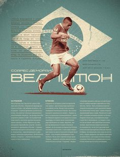 Top 7 / Julia Semenova #design #layout #editorial design #soccer