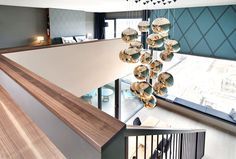 Luxurious Penthouse with Gorgeous Brass Lightning Installation - #decor, #interior, #homedecor, home decor, interior design