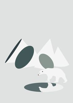 A quiet friend by Line Otto #print #design #illustration