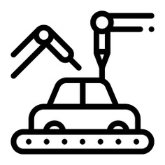 See more icon inspiration related to car, conveyor, robotic arm, manufacturing, innovation, transportation, electronics, industry, factory and vehicle on Flaticon.