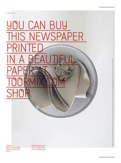 Toormix New Papers on the Behance Network #poster