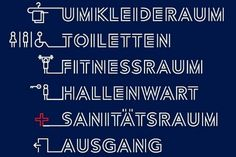 Typos and pictograms go together in Chemnitz #signage #pictogram #typography
