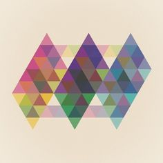 Fig. 034 Art Print by Maps of Imaginary Places | Society6 #geometry #design #shapes #geometric #colors #poster #art #triangles