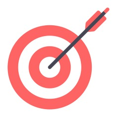 See more icon inspiration related to target, arrow, targeting, archery, dart board, darts and weapons on Flaticon.