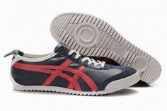 Asics Mexico 66 Deluxe Dark Blue/Red Women's #shoes