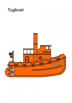 Print-Process / Product / Tugboat #illustration #boat #poster