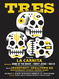 Tres_poster #skull #tres #poster