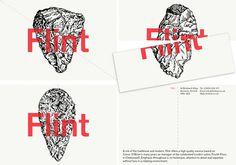Flint identity design #bibliotheque #logo #flint