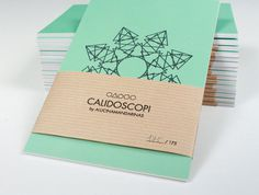 Calidoscopi by Alucinamandarinas #geometry #postcard #flyer #color #postal #kraft