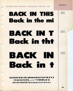 Airport Black type specimen #type #specimen #typography