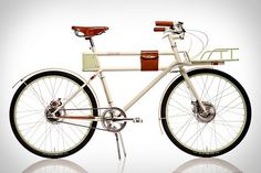 Faraday Porteur Bike | Uncrate #bicycle #design #leather #vintage #bike