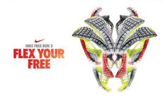 Nike Free Run 3 #direction #art #branding #retail
