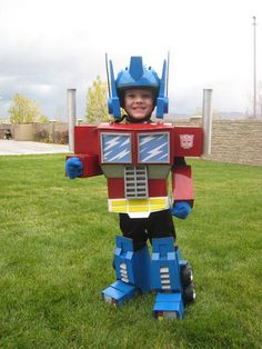Optimus Prime Transformer #homemade #diy #costume