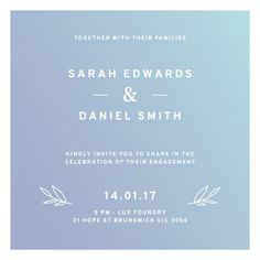 Simply Modern - Engagement Invitations #paperlust #engagementinvitation #engagementcard #engagementinspiration #design #paper #digitalcards