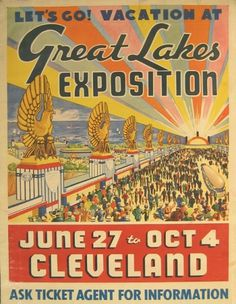 Alexandra Lange: Let's Go! World's Fairs of the 1930s: Observers Room: Design Observer #retro #illustration #vintage #poster #typography