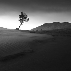 Minimalist Black and White Landscape Photography by Pejuang Subuh