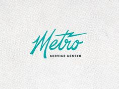Dribbble - Metro 01 by Brent Couchman #identity