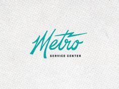 Dribbble - Metro 01 by Brent Couchman #identity