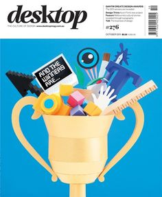 desktop magazine October 2011 cover by Benja Harney #cover #desktop #magazine