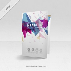 Bi-fold flyer mockup of modern shapes Free Psd. See more inspiration related to Brochure, Flyer, Mockup, Business, Abstract, Template, Geometric, Shapes, Leaflet, Text, Flyer template, Stationery, Corporate, Mock up, Company, Modern, Booklet, Polygonal, Information, Geometric shapes, Triangles, Abstract shapes, Low poly, Up, Geometrical, Stylish, Low, Mock and Geometrical shapes on Freepik.
