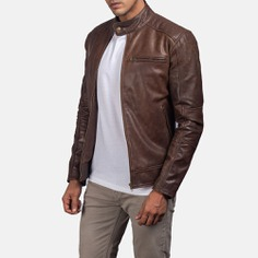 Dean Brown Biker Brown Leather Jacket – Top Leather Jackets