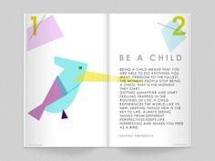 BE A CHILD #piedade #design #child #nice #clean #wisdom #rodrigues #magazine