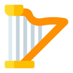 See more icon inspiration related to harp, music and multimedia, string instrument, musical instrument, orchestra and music on Flaticon.