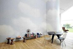 Maharam Digital Projects at VitraHaus #interior #design #wallpaper #eames