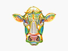 Cow by Katrin Luppo #illustration