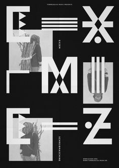 HelloMe — Exzem #design #graphic #typo #black