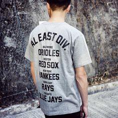 MLB SS15's first drop is now available. #ss15 #mlb #majorleaguebaseball #baseball #aleastdivision #baltimoreorioles #bostonredsox #newyork