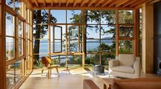 Miller Hull - Davis Residence #ocean #millerhull #architects #wood #architecture #view