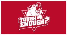 "Logo for the ""Tough Enough"" Sports Team #inspiration #design #identity #logo #bear"