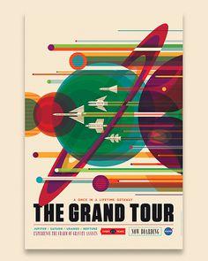 The Grand Tour / Invisible Creature for NASA #invisiblecreature #posters #nasa