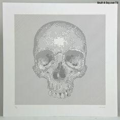 Skull-A-Day #skull #lines #illustration