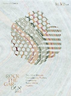 Rock the Garden 2012 Graphic Identity — Design — Walker Art Center #overprint #print #identity