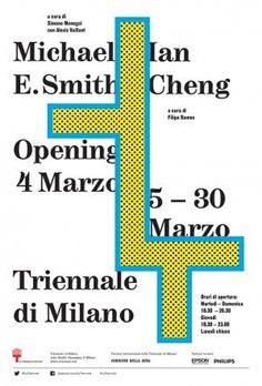 Michael E. Smith & Ian Cheng Exhibition, Triennale di Milano, Poster by Mousse Magazine, 2014. #poster
