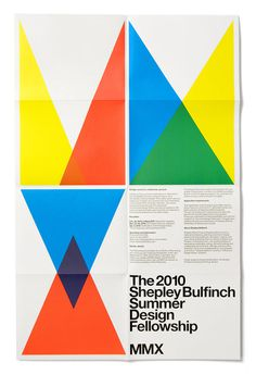 Shepley Bulfinch poster, 2010 what inspired me was the simpleness of the colors #swiss #multiply #experimental #grid #poster #jetset