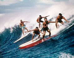 A Brief History of Surfing · Stampsy #ocean #sufing #wave #vintage #sufers