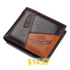 GUBINTU #Genuine #Leather #Creative #Personality #Wallet #- #BROWN