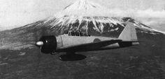 Zero-MtFuji-px800.jpg (800×390) #fuji #white #wwii #black #photography #plane #and #japan