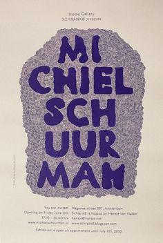 www.hansje.net #van #poster #hansje #halem #typography