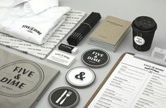 Identité graphique Five & Dime par Bravo company | Journal du Design #bravo #design #corporate #studio #company