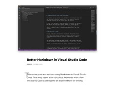 Better Markdown in VS Code