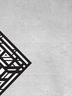 Organic Rhombus #geometry #design #blaqk #posters #symmetry #greece #patterns #athens