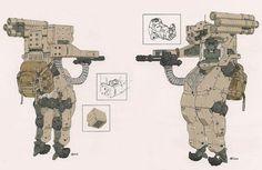 Metal Gear Solid 4 Power suit by Yoji Shinkawa #mill-tech #mecha