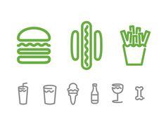 Shake_Shack_Icons #shake #shack #icons #restaurant