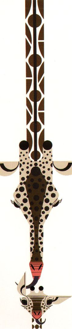 Charley Harper Giraffe #charley #illustration #giraffe #harper