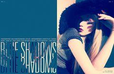 Blue Shadows | Volt Café | by Volt Magazine #beauty #design #graphic #volt #photography #art #fashion #layout #magazine #typography